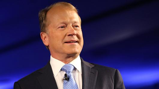 John Chambers, CEO of Cisco, at the 2015 CGI Annual Meeting in New York.
