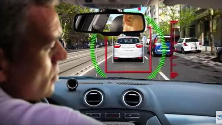 A still image from a Mobileye video.